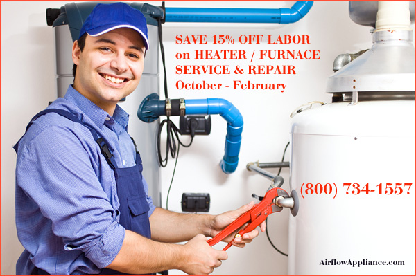 Save 20% Off Labor on Commercial and Residential Heater/Furnace Service and Repair